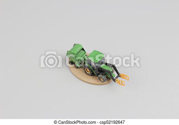 tiny of fun modell of Agricultural machinery. - csp52192647