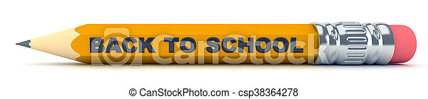 Tiny sharp pencil - Back to School - csp38364278