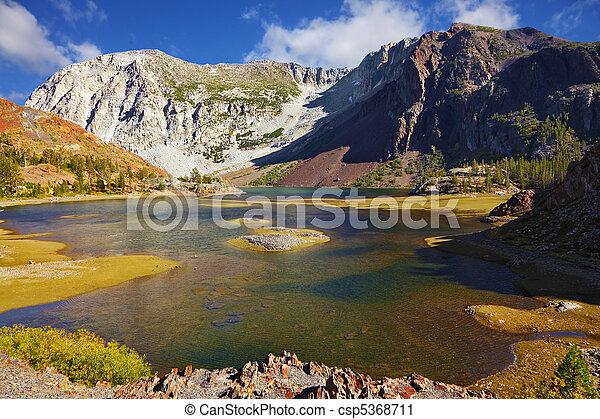 tioga, 絵のよう, 湖, パス - csp5368711