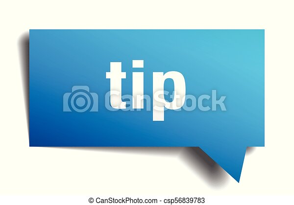 tip blue 3d speech bubble - csp56839783