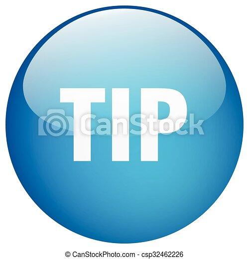 tip blue round gel isolated push button - csp32462226
