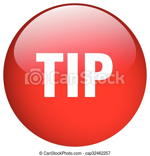 tip red round gel isolated push button - csp32462257