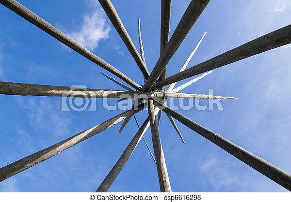 Tipi poles - csp6616298