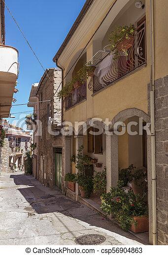 tipico, strada, italiano, sardegna, piccolo - csp56904863