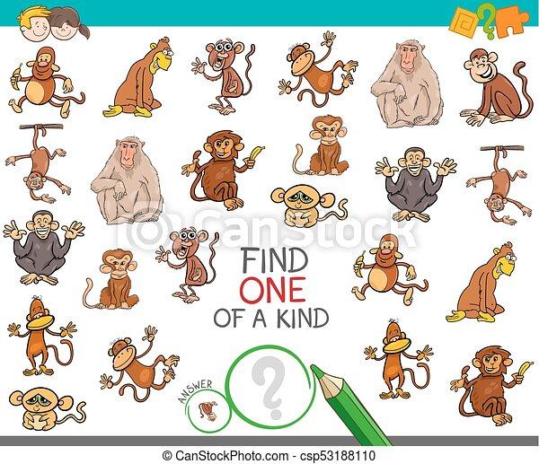 tipo, achar, macaco, caráteres, um - csp53188110