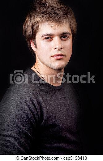 tipo, joven, masculino, guapo - csp3138410