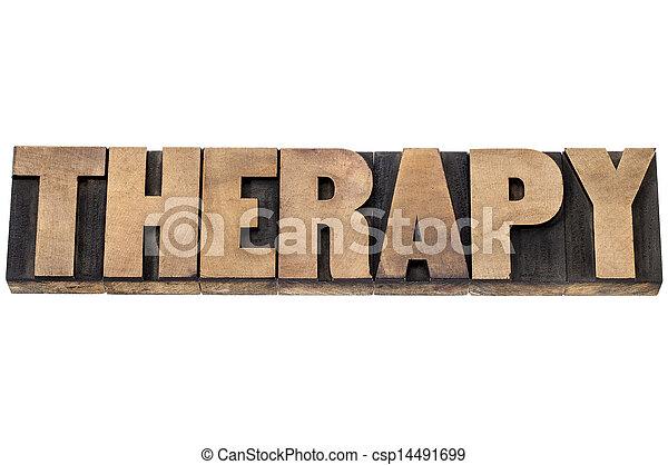 tipo, madeira, palavra, terapia - csp14491699