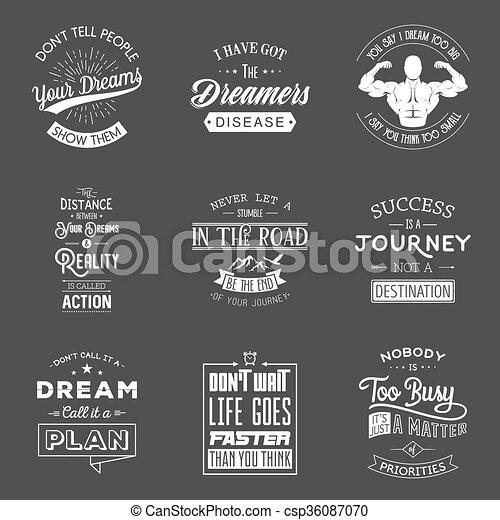 tipográfico, jogo, motivação, quotes., vindima - csp36087070