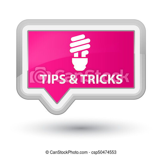 Tips and tricks (bulb icon) prime pink banner button - csp50474553