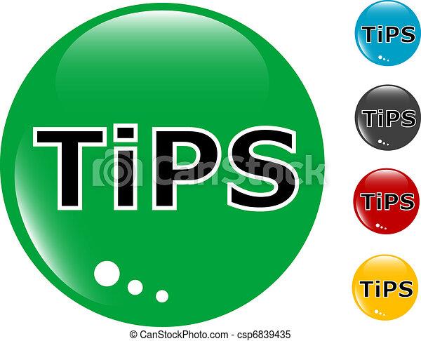 Tips glass button icon - csp6839435