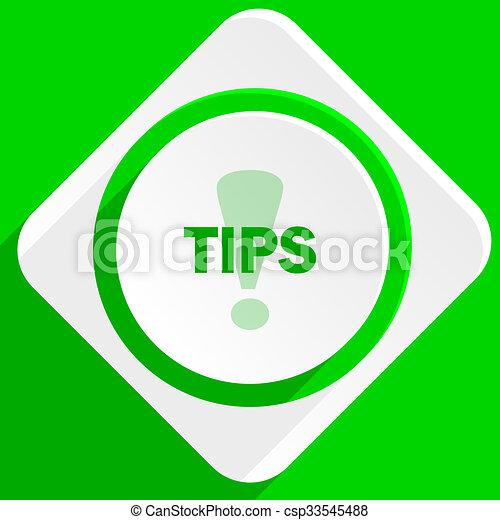 tips green flat icon - csp33545488