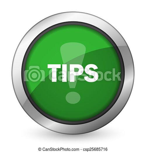 tips green icon - csp25685716