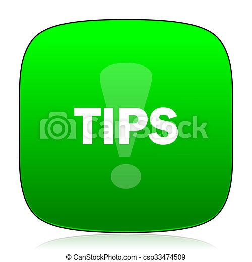 tips green icon - csp33474509