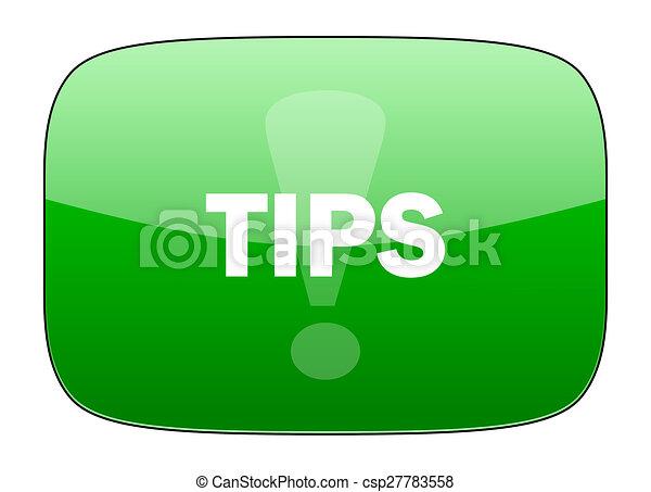 tips green icon - csp27783558