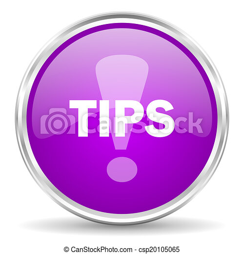 tips pink glossy icon - csp20105065