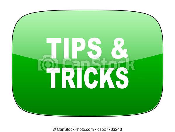 tips tricks green icon - csp27783248