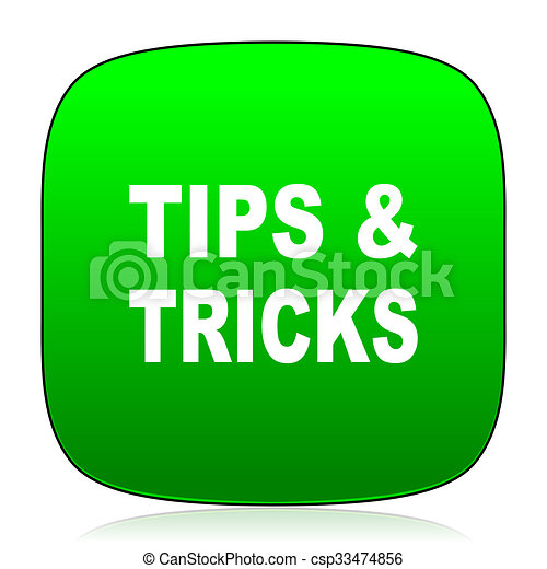 tips tricks green icon - csp33474856
