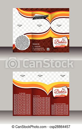Tir Fold Bakery Brochure Template
