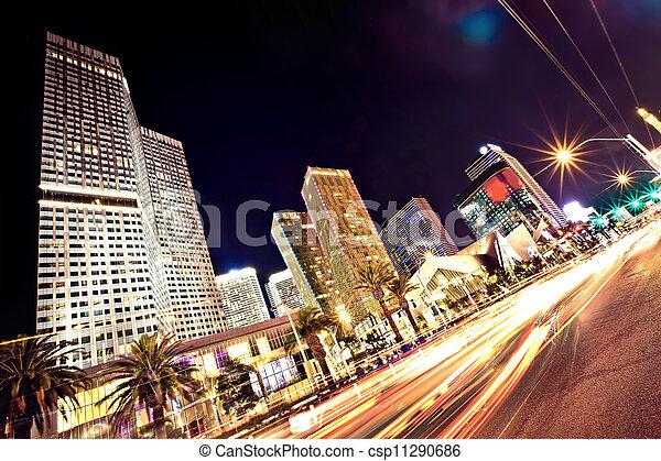 La tira de Las Vegas por la noche - csp11290686