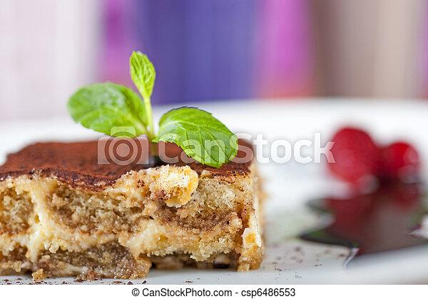 Tiramisu a la carte dessert - csp6486553