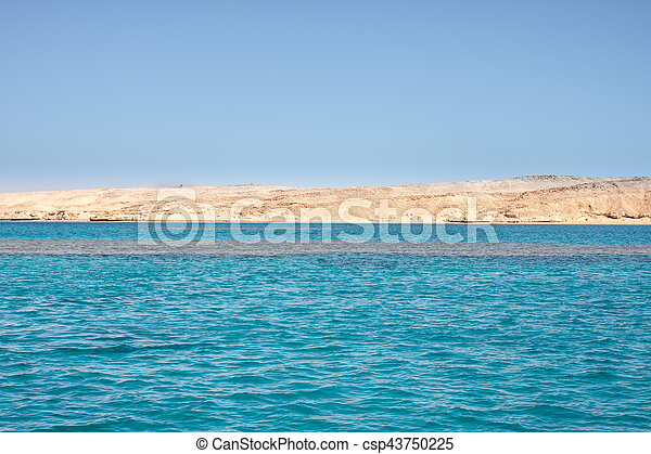 Tiran island Egypt view from the sea - csp43750225