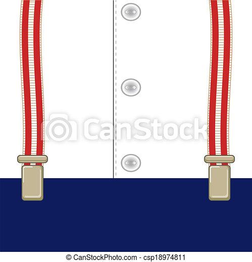 Suspendedores Un Letrero En Tirantes Para Pantalones En Medio De Una Camisa Con Botones Canstock