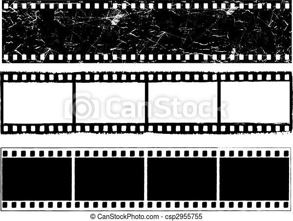 tiras, grunge, película - csp2955755