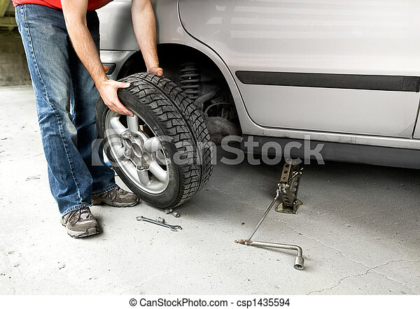 Tire Change - csp1435594