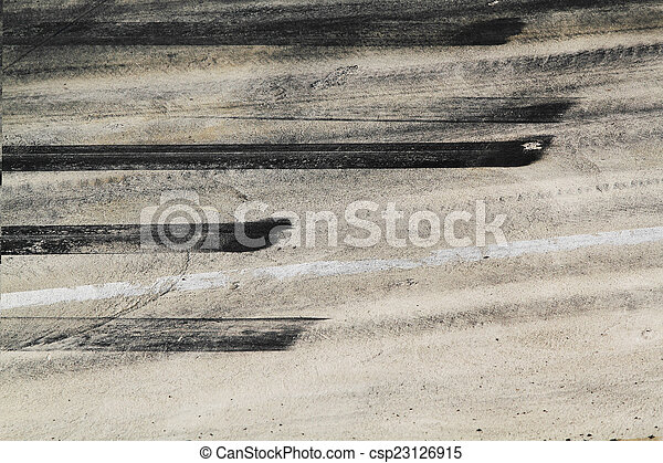 Tire marks on road track - csp23126915