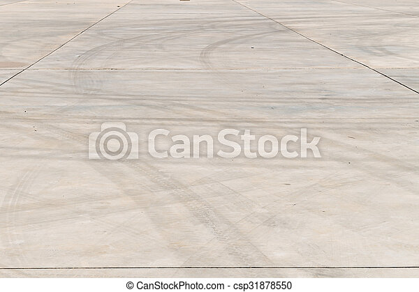 Tire marks on road track - csp31878550