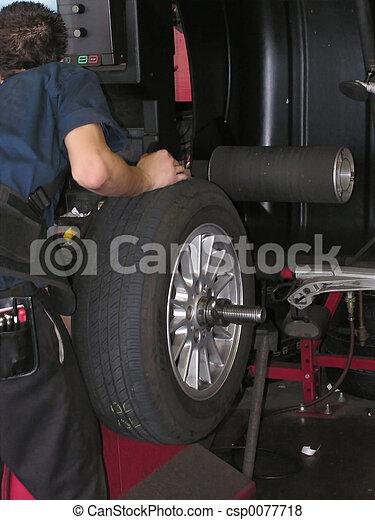 Tire on spin balance machine - csp0077718