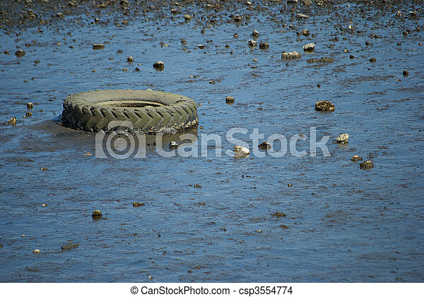 Tire on the Beach - csp3554774