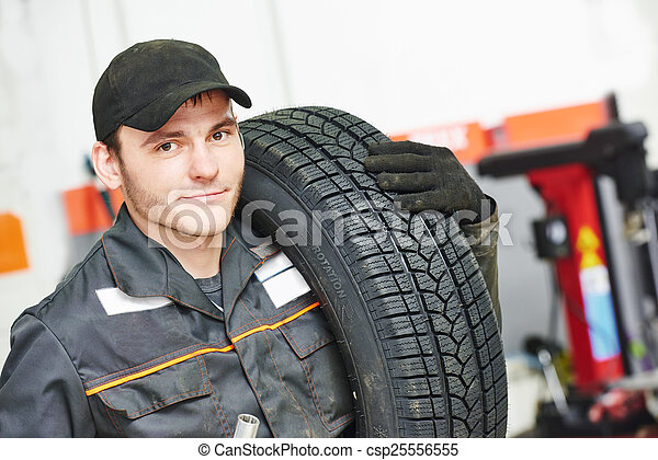 tire repairman auto mechanic - csp25556555