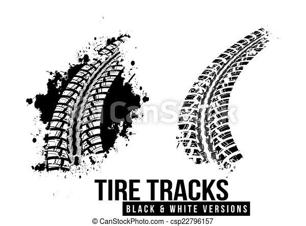 Tire track background - csp22796157