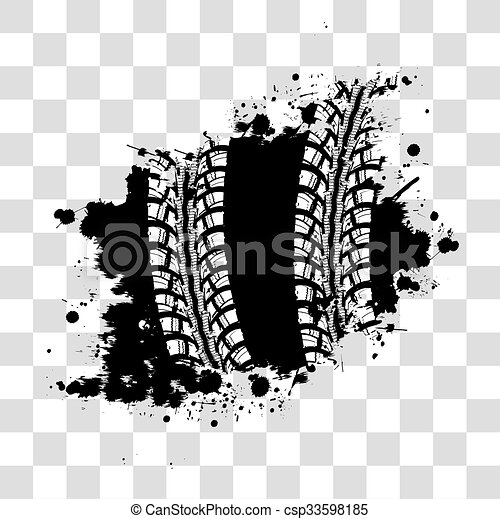 tire track background tire track vector background in black rh canstockphoto com tire track vector free download tire track vector art free