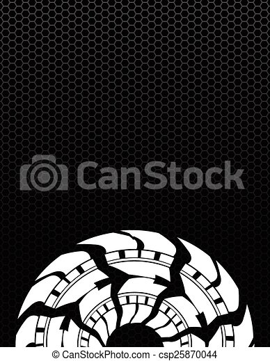tire track background with a special metallic grid design - csp25870044