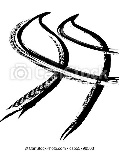 tire track road tire tracks print texture off road clip art rh canstockphoto com tire tracks clip art free tire track clipart