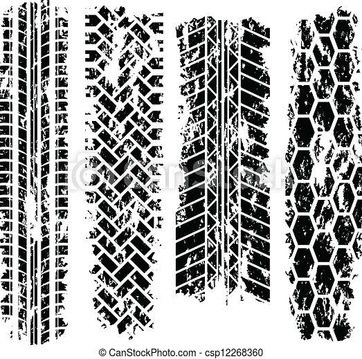 Tire tracks - csp12268360