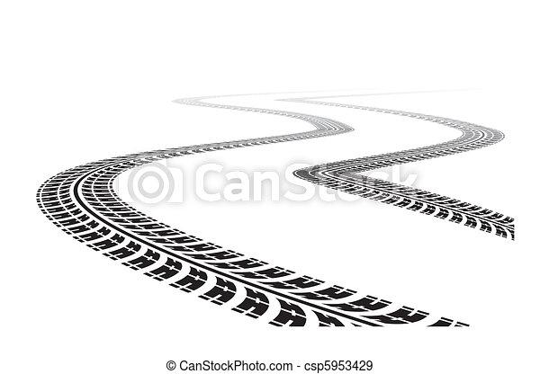 tire tracks - csp5953429