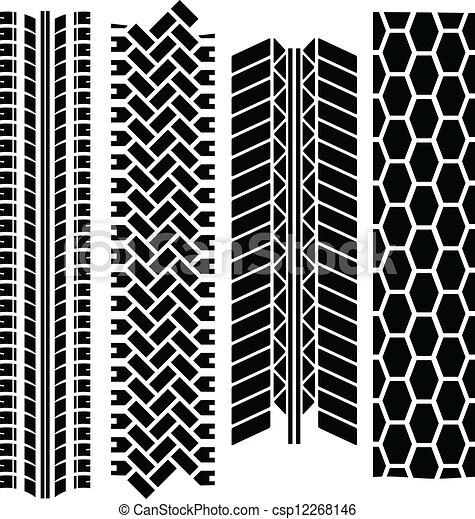 Tire tracks - csp12268146