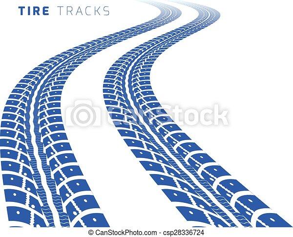 Tire tracks - csp28336724