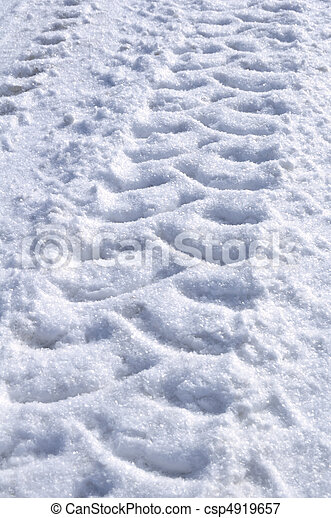 Tire Tracks in the Snow - csp4919657