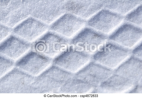 Tire Tracks in the Snow - csp4872833