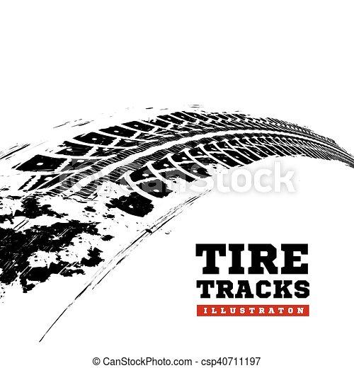 tire tracks on white tire tracks vector illustration on white rh canstockphoto com Dirt Bike Tire Track Vector Mud Tire Tracks