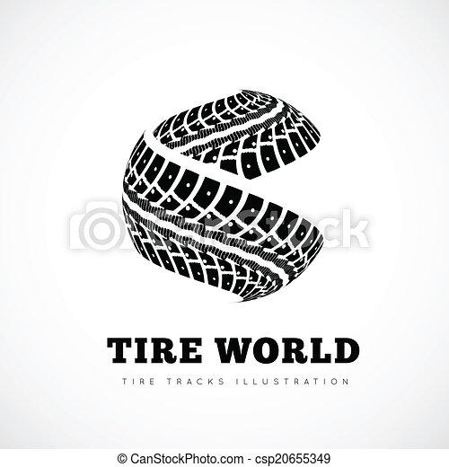 Tire tracks sign - csp20655349