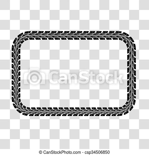 tire tracks vector tire tracks frame set vector illustration on rh canstockphoto com Mud Tire Tracks Clip Art Tire Track Border Clip Art