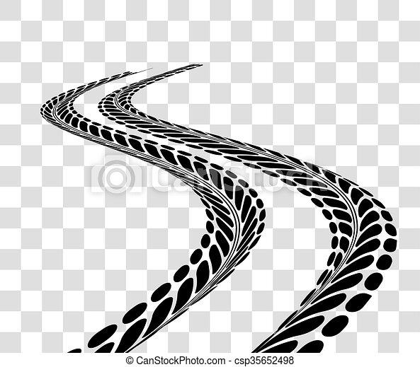 tire tracks vector tire tracks vector illustration on checkered rh canstockphoto com Dirt Bike Tire Track Vector Mud Tire Tracks Clip Art