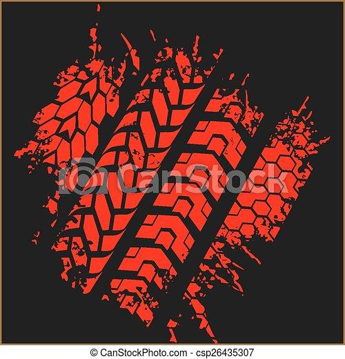 Tire tracks - vector set - csp26435307