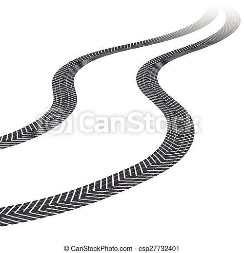 tire tracks white background tire tracks leading far vector rh canstockphoto com bike tire track vector bike tire track vector