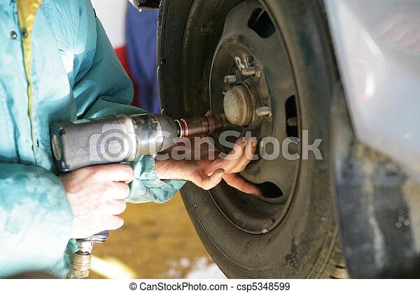 tire tyre change - csp5348599